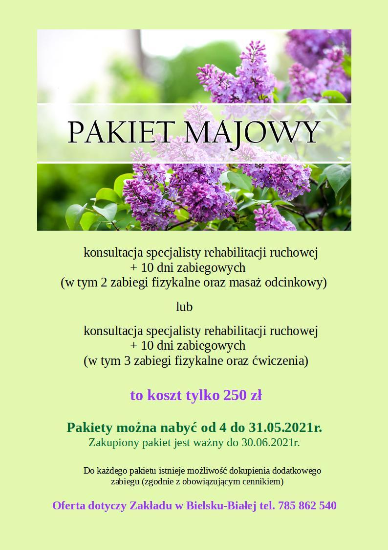pakiet majowy-promocja rehabilitacja bielsko-biała